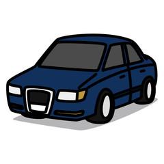 Cartoon Car 34 : European Sedan