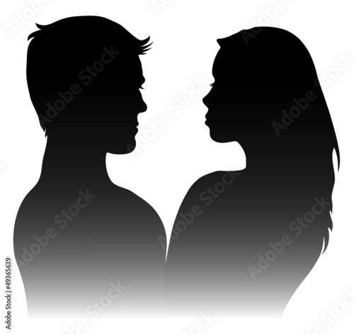 silhouettes of men and women