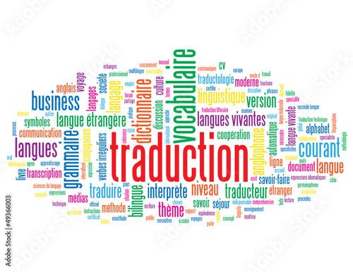 Nuage de Tags TRADUCTION (dictionnaire langues langage traduire)