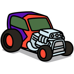 Cartoon Car 37 : Hot Rod