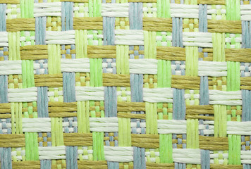image of cubes and cross line textile sameless pattern