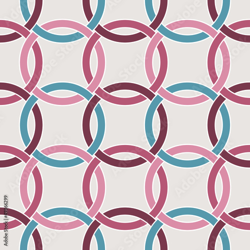 Seamless circle geometric pattern