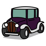 Cartoon Car 40 : Purple Vintage Car