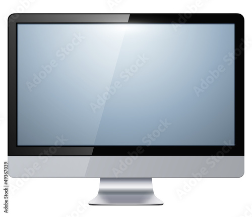 monitor lcd, tv isolated,