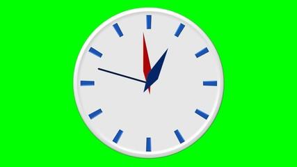 12 heures - fond vert