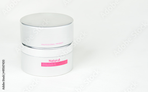 cup with cosmetic product
