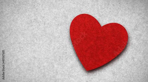 Rotes Herz aus Filz