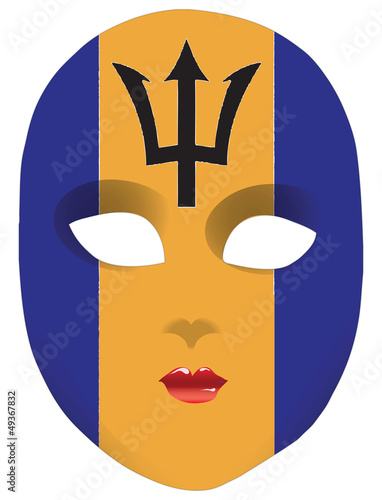 Mask flag Barbados