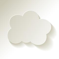 Cloud  Wolke Papier weiss