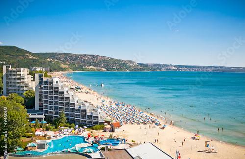 Aluminium Oost Europa Panoramic view of Golden Sands beach in Bulgaria.