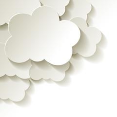 Clouds  Wolken Papier weiss Ecke Hintergrund
