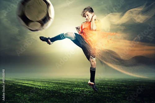 canvas print picture Soccer