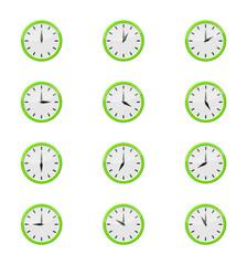 Set 12 heures - vert