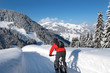 Mountain biker in winter