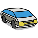 Cartoon Car 43 : Electric Vehicle