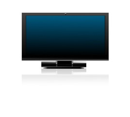 abstract shiny flat tv screen  realistic reflection vector