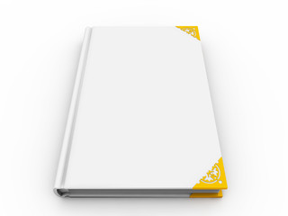 Blank book cover on the white background
