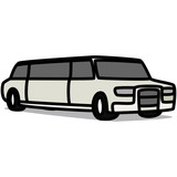 Cartoon Car 47 : Stretch Limousine