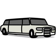 Cartoon Car 47 : Stretch Limousine
