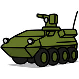 Cartoon Car 48 : Armored Vehicle