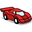 Cartoon Car 49 : Red Racing Car
