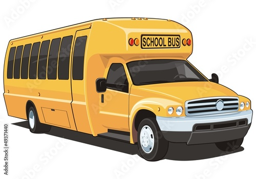 Vector isolated school bus
