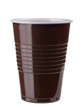 Brown empty plastic cup