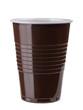Brown empty plastic cup