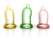 condoms isolated