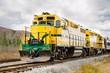 Diesel Locomotive and Cloudy Sky