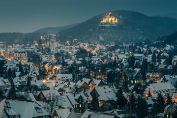 Wernigerode + Schloß, Winterstimmung