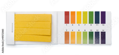 Pack of litmus test paper and color samples