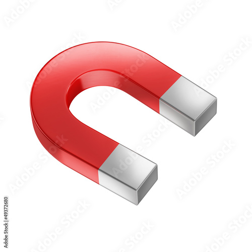 horseshoe magnet isolated on white
