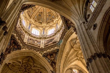 Dome of the new Cathedral in Salamanca, Spain