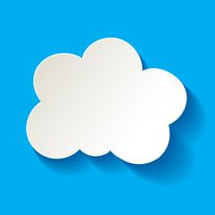 Cloud  Wolke Papier weiss blau