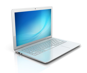 white laptop notebook ultrabook isolated