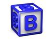 B Letter Cube
