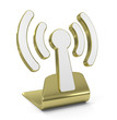 """Wi-Fi"" Golden Symbol"