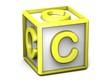 C Letter Cube