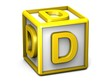 D Letter Cube