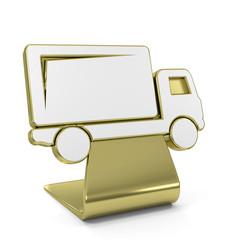"""""""Truck"""" Golden Icon"""