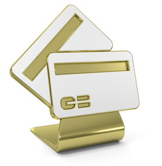 """""""Credit Cards"""" Golden Icon"""