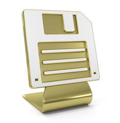 """Disk"" Golden Icon"