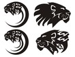 Tribal lion symbols, vector