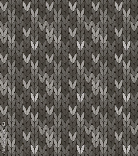Seamless knit pattern in grey colorway