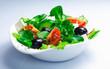 Serving of fresh Greek salad