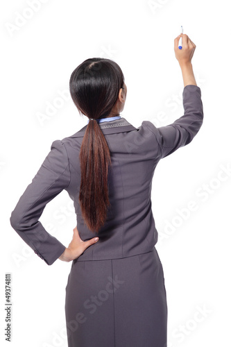 business woman  standing to the back side