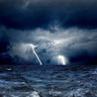 Fototapeten,apokalyptisch,lightning,regenschauer,sturm