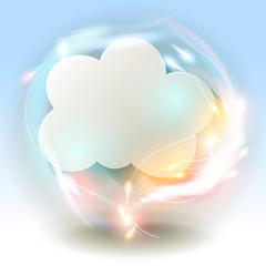 Cloud  Wolke Papier blau Bokeh