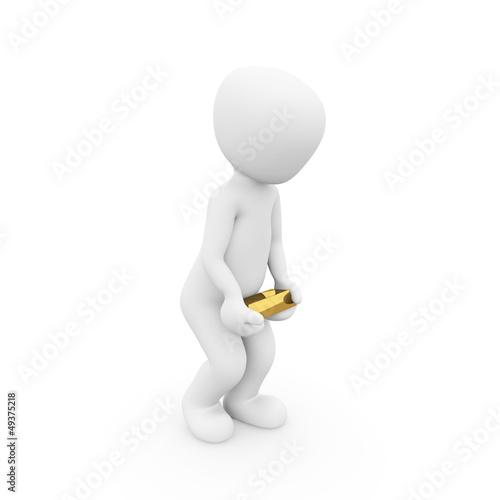 Goldbarren schwer